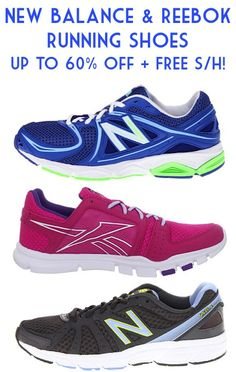 New Balance and Reebok Running Shoes: up to 60% off + FREE Shipping!! #shoes