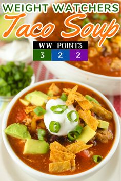 This Weight Watchers Taco Soup recipe is going to keep you warm and losing weight this winter! I was able to keep the points down by using all your favorite ingredients but also a few key swaps. This easy Taco Soup recipe also has some extra zip from a packet of ranch seasoning! via @foodhussy
