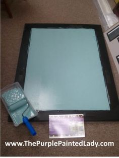 How to make a dry erase board - How cool is this? - The Purple Painted Lady