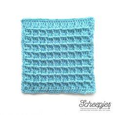 Waffle crochet stitch - Weel 8 of Scheepjes 2016 CAL. Last Dance on the Beach blanket.
