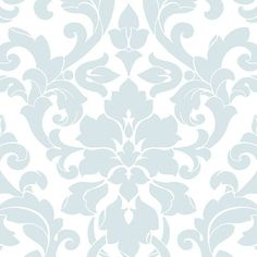 "Stipes and Damasks II 32.7' x 20.5"" Velvet Damask Wallpaper 