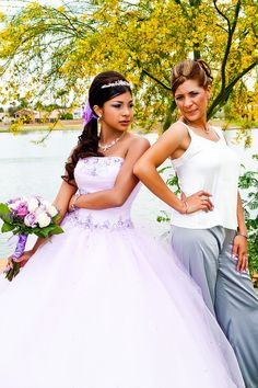 mother and daughter quinceanera pose- my sister-in-law well love this