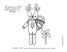 cuddle+kind scout the deer colouring sheet www.cuddleandkind.com Easter Coloring Pages, Coloring Sheets For Kids, Printable Coloring Sheets, Coloring Pages For Kids, Coloring Books, Colouring Sheets, Kids Coloring, Toddler Crafts, Kids Crafts