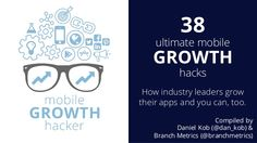 38 Ultimate Mobile Growth Hacks – Expert Tips and Tools to Grow your … Computer Internet, Growth Hacking, Marketing, Embedded Image Permalink, Hacks, Tools, App Store, Dan, Twitter