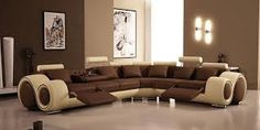 Graceful Modern Brown Living Room Paint Colors With Luxurous Ultra Elegant Brown Sofa Design Idea Image Living Room Color Schemes, Paint Colors For Living Room, Living Room Sets, Living Room Designs, Living Area, Bedroom Designs, Room Furniture Design, Living Furniture, Living Room Interior