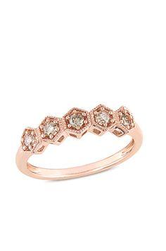 Diamond hexagon band