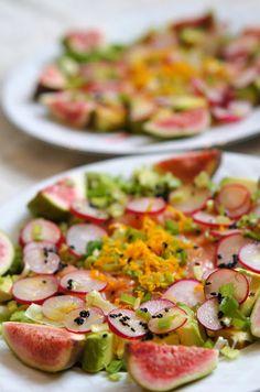 Spring salad with smoked salmon, #salad, #salmon, #fish