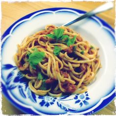 Linguine with Tomato and Capers. So good.