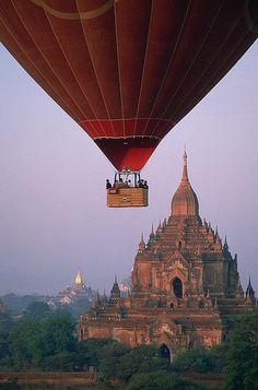 Purple Sky in Bagan, Myanmar