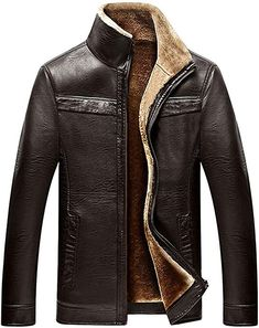 a5ff167da7 Looking for chouyatou Men s Winter Full Zipper Thick Sherpa Lined Faux  Leather Jacket   Check out our picks for the chouyatou Men s Winter Full  Zipper Thick ...