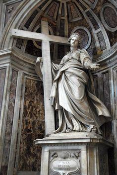 Santa Helena del Vaticano. Obra de Andrea Bolgi, autor de la famosa Medusa robada en Verona.