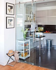 Hanging glass doors