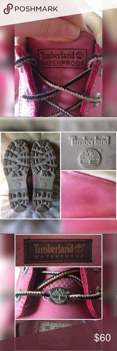 Pink Nellie Timberlands Other pictures/ details for woman's size 10 booties.. Buy and read more about the on other post, thank you! 💖💗☺️ Timberland Shoes Ankle Boots & Booties