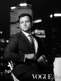 Gonna save the world. Don't forget to feed the girls and your cat. *looks at his watch* tewnty minutes. British Men, British Actors, Taron Edgerton, Taron Egerton Kingsman, Def Not, Perfect Man, Man Crush, My Boyfriend, Gorgeous Men
