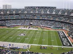 Raiders game in Oakland