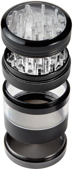 """The Ultimate Herb Grinder on Amazon: Herb Grinder with Pollen Catcher 4 Piece Made From Aerospace Grade Aluminum Super Large Size 2.5"""" X 3.25"""".: Kitchen & Dining"""