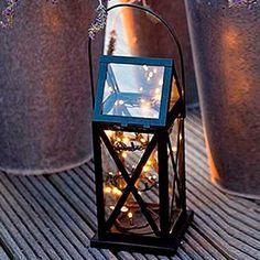 Lanterne de jardin avec guirlande led en vente sur www.bienvenuechezvous.biz