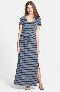 Caslon® Short Sleeve Knit Maxi Dress (Regular & Petite) | Nordstrom