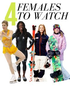 4 females to watch...with Ashley Wagner on top! #figureskating #ashley #wagner