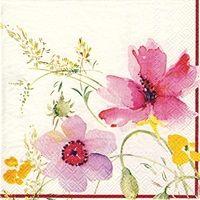 0851 Servilleta decorada flores