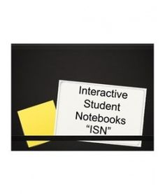 Ideas for interactive notebooks...this sort of explains the theory behind them...sort of