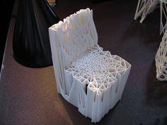 Un concetto in scala stampato in 3D di una sedia progettata da MGX.