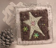 Removable Christmas ornament on Christmas card by NellsEmbroidery, $18.00