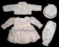 Costum de botez cu rochita si bolero ROSE