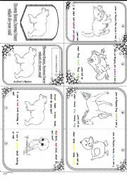 English worksheet: Brown bear mini book story- editable