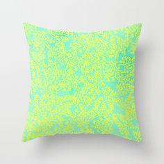 Coral Me Lime Throw Pillow