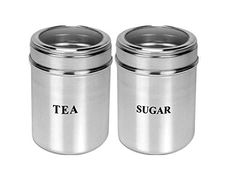 (33% off) Dynore Set Of 2 Tea And Sugar See Through Canisters - Size 10
