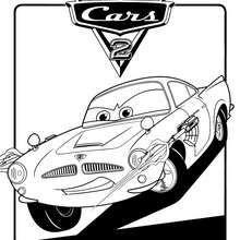 Colorear Rayo McQueen y Mate en la pelcula Cars 2  Lugares para