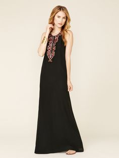 Love that bracelet too!!  Nisha Silk Crepe Maxi Dress by Winter Kate on Gilt.com