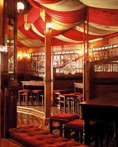 Interieur Spiegeltent Gouda, bohemian chique