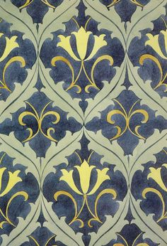Carpet design by C F A Voysey, produced in 1890. Source...
