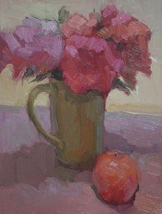 Kathryn Townsend Painting Studio: Green Mug with Orange