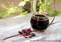Hibiscus tea — fight a cold and may even lower your blood pressure and cholesterol at the same time….