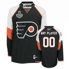 2d58857b694 Flyers Personalized Authentic Black Stanley Cup Finals Patch NHL Jersey  (S-3XL) New