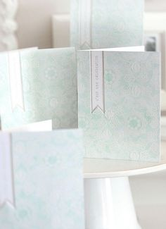 heat embossing with watercolours over top - gorgeous!
