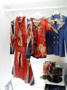 Union Jack Coat and a couple of other outfits made for David Bowie by Alexander McQueen.