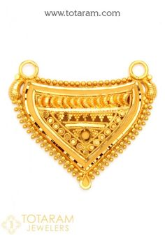 Gold Pendants - View and shop our collection of gold pendants made in India - Indian Gold Jewelry - Buy Online Fancy Jewellery, Gold Jewellery Design, Gold Jewelry, Beaded Jewelry, India Jewelry, Gold Necklace, Gold Mangalsutra Designs, Gold Earrings Designs, Gold Designs