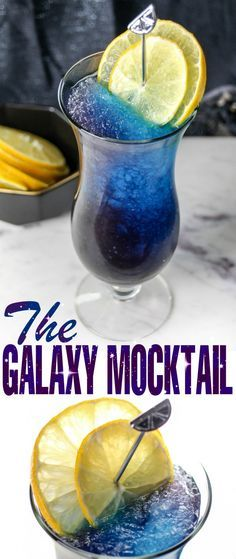 The Galaxy Mocktail is a super pretty space themed mocktail perfect for adults and kids alike. It's a refreshing slushie drink that tastes as good as it looks!