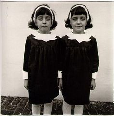 """""""Identical Twins, Roselle, New Jersey, 1967"""" in post about: An Emergency in Slow Motion: A """"Psychobiography"""" of Diane Arbus  via @brainpicker"""
