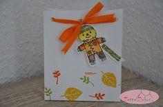 Stampin' Up! beim ZettelZirkus: Herbstgrüße, Cookie-Cutter Halloween, Lebkuchenmann, Wald der Worte, Tüte, Vogelscheuche, Herbst,
