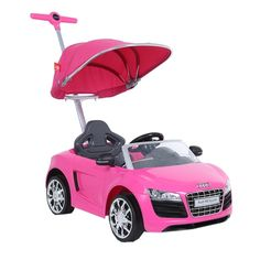 Audi Push Buggy With Canopy - Pink