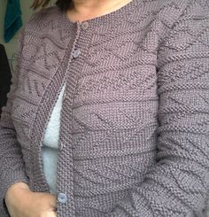 Mia by Kim Hargreaves - Classic textured cardigan