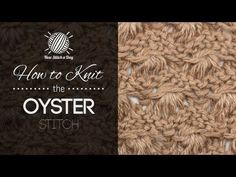 How to Knit the Oyster Stitch - YouTube