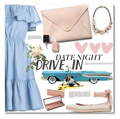 """""""Date Night."""" by dazedandconfused ❤ liked on Polyvore featuring HarLex, AERIN, Lee Angel Jewelry, Urban Decay, Chanel, DateNight, drivein and summerdate"""
