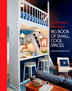 Whether you inhabit a studio or a sprawling house with one challenging space, Maxwell Gillingham-Ryan, co-founder of the most popular interior design website, Apartment Therapy, will help you transform tiny into totally fabulous. Deco Studio, Studio Apt, Studio Paris, Tiny Spaces, Small Apartments, Small Apartment Plans, Tiny House Design, Home Design, Design Ideas