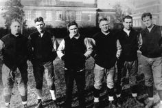 Frank Thomas and the Crimson Tide coaching staff (featuring former player and future head coach Paul Bryant, far right), circa mid-30s.